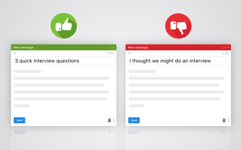 Correct way to write email subject lines