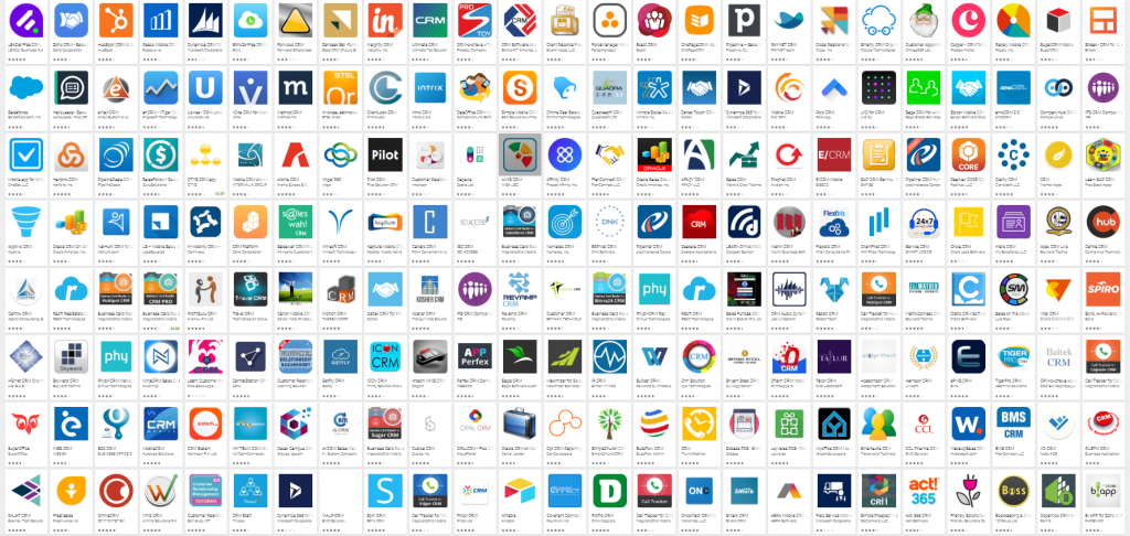 A list of CRM apps.
