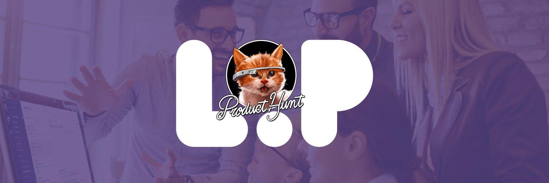 Product Hunt cat and Loop visuals.
