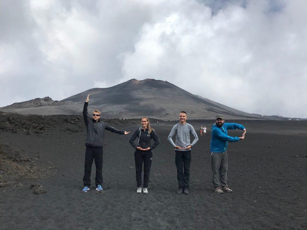 Summer Challenge participants on Etna.