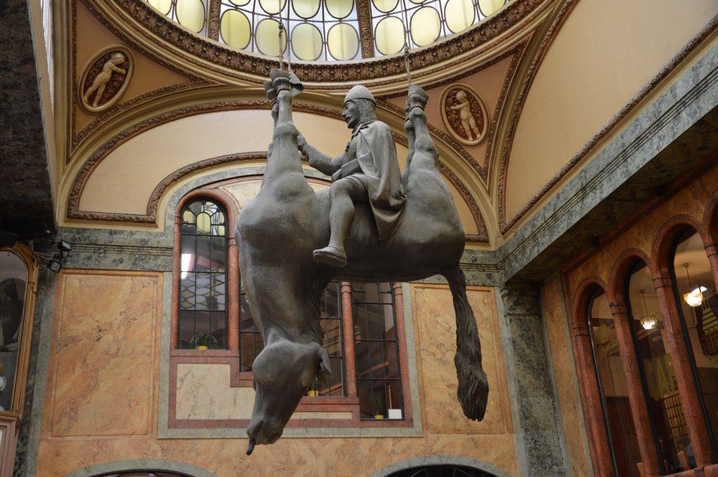 Sculpture in Prague city center.
