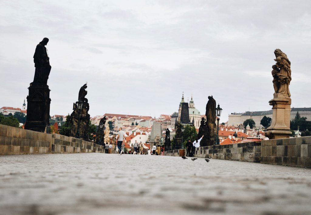 Charles Bridge early in the morning.