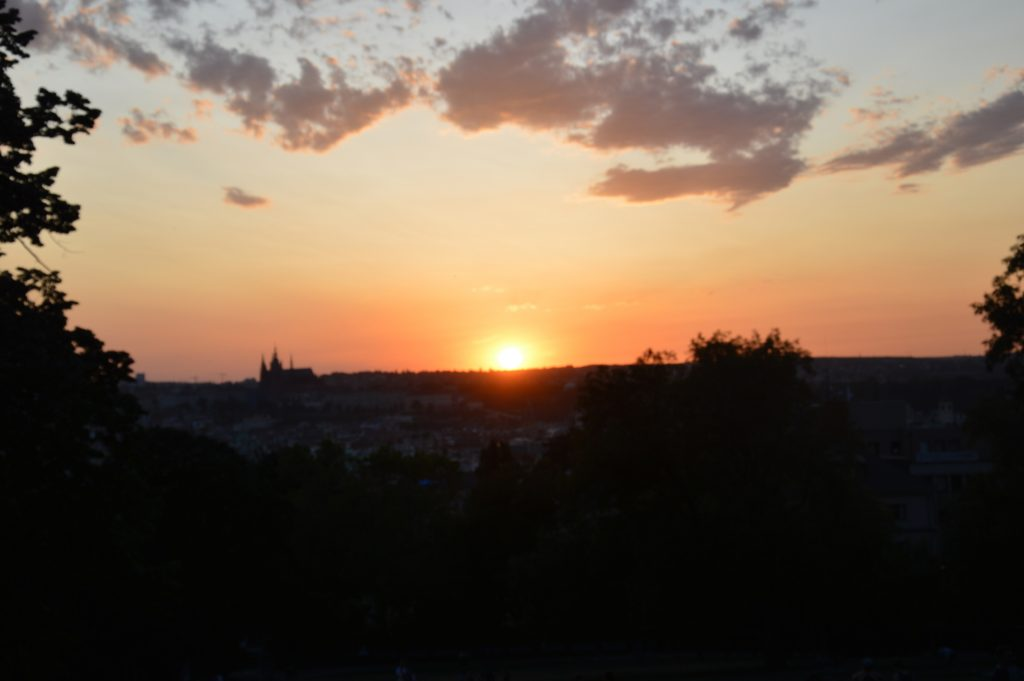 Sunsets over Prague.
