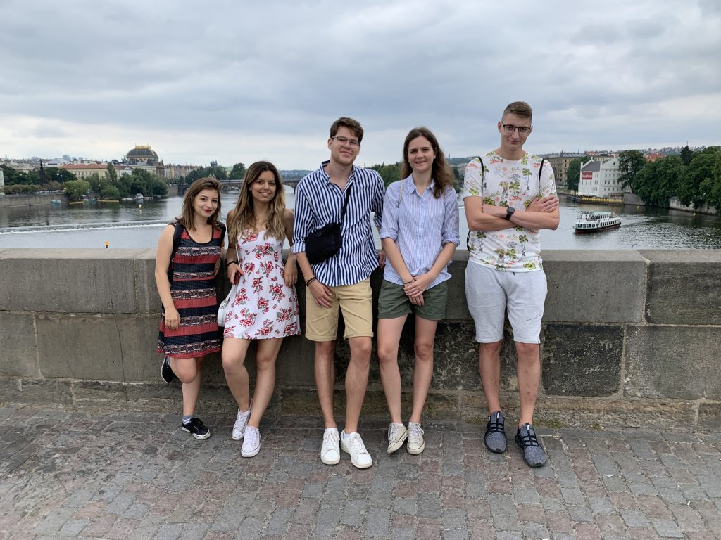 The team on Charles Bridge.